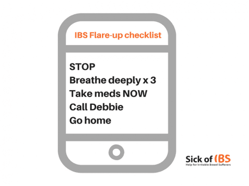 IBS flare-up checklist example