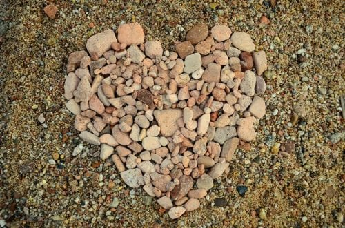 Beating IBS: a heart made of pebbles