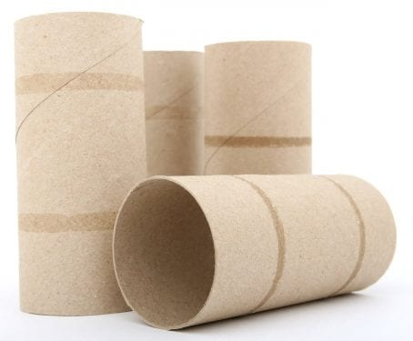 empty toilet rolls