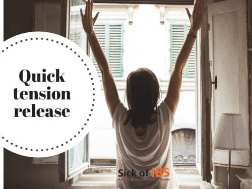 Quick tension release for IBS